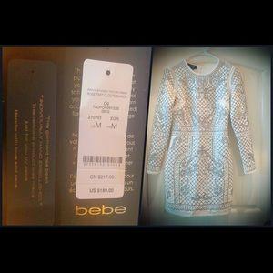 Bebe embellished dress (white/ivory)